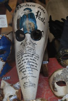 Venice Plague Doctor mask known as Il Becco