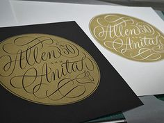 Type and Lettering: Allen and Anita
