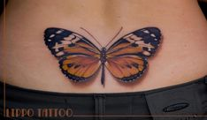 WOW! - Realistic butterfly ink by Lippo Tattoo, Italy.