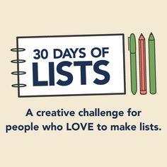 30 Days of Lists | September 2014