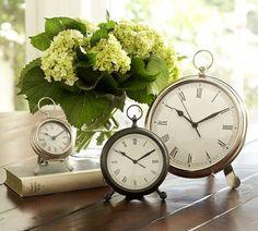 clocks and flowers