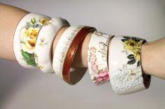 The Teacup Bracelets By StayGoldMaryRose - Charming Vintage Bonechina Tea Cup Bracelet. $49.00, via Etsy.