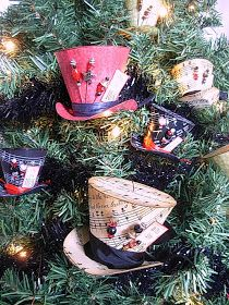 Mad Hatter Christmas ornaments tutorial