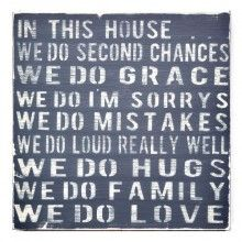 """""""In This House"""" Wall Decor"""