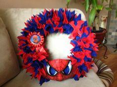 Spider-man wreath for Xzavier's birthday!