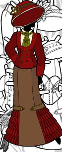 Steampunk Paper Doll Clothes for the Ms. Mannequinn Series
