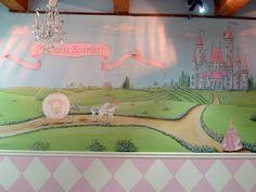Pink Princess Nursery Mural