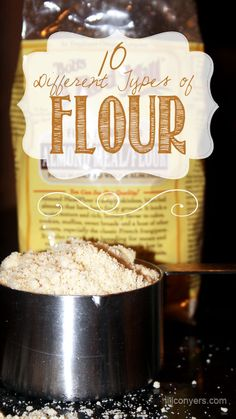 A quick guide on 10 different types of flour and their uses. Good to keep in mind when I'm experimenting with baking.