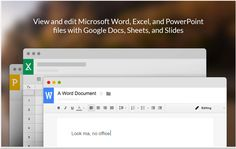 New Now You Can Edit Office Files in Google Drive ~ Educational Technology and Mobile Learning