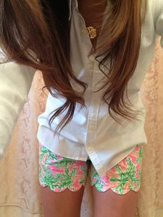 dream closets, preppy shorts outfit, fashion, lilly pulitzer, style