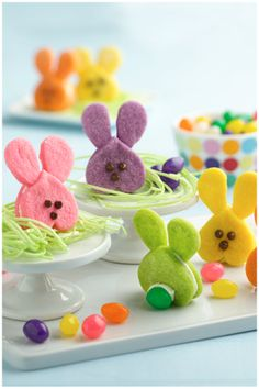 Cute and colorful, these bunny sandwich cookies are as adorable from the back as they are from the front!