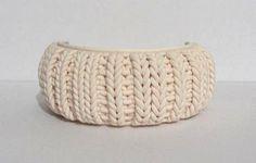 Polymer Clay Knitting!