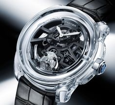 Cartier ID Two Concept Watch made with a transparent ceramic case