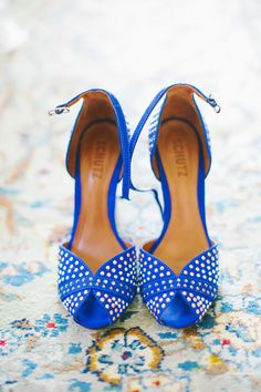 Blue and White Wedding Ideas - Cobalt Shoes