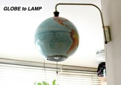 Globe lamp. I repinned this one for you Deidre...hope that you see it!