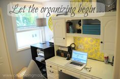 desk space, storage boxes, home office organization, omf headquart, fun, cubbi, organization ideas, offic organ, home offices