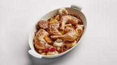 Roast Chicken Legs with Lots of Garlic Recipe | Bon Appetit