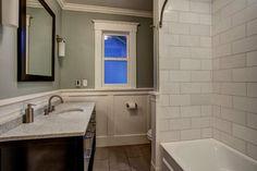 Upstairs Bathroom - craftsman - bathroom - seattle - by Board and Vellum