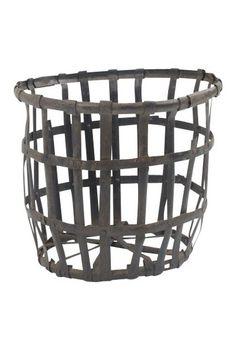 iron log basket - french 19th c.