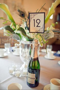 Table numbers champagne