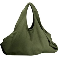 Green Suede Tote Bag ($281) ❤ liked on Polyvore