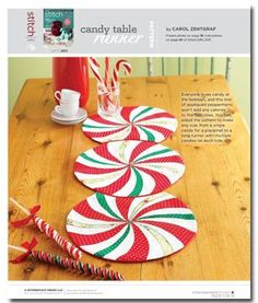 Pattern: Candy Table Runner - Sew Daily