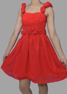 Rose Strapped Dress $100