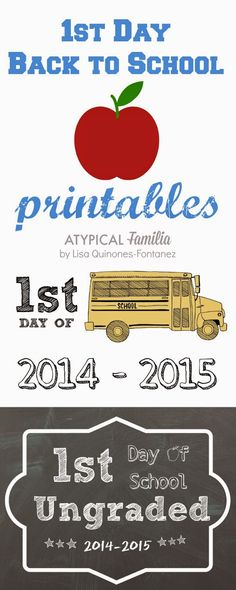 #BackToSchool 1st Day of School Printables for kids with #autism #SpecialNeeds
