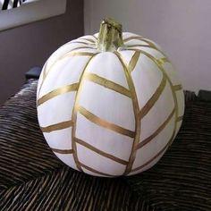 Herringbone painted pumpkin