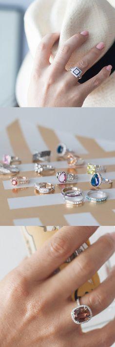 I love eye-catching rings!
