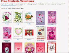 This site has tons of FREE Printable Valentines.