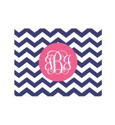 Free Printable Chevron Monogram Note Cards.  Just choose color and design (lots to choose from) and type in monogram and print!  So excited that they finally did these.  Great gift idea too!