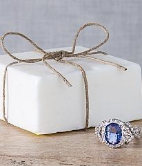 So cool! Cute gift idea!  There's a ring inside every bar of soap.