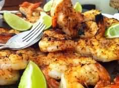 Sweet Chipotle Spiced Grilled Shrimp