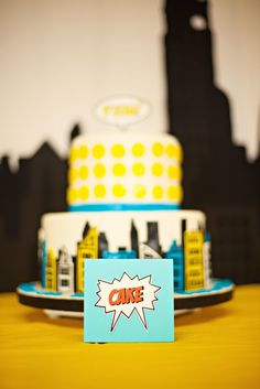 superhero - Kara's Party Ideas birthday parties, comic books, superhero party, super hero cakes, superhero birthday party, first birthdays, book cakes, superhero cake, birthday cakes