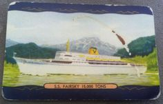 Vintage Coles Swap Card from the 1950's  Named Ship 'SS Fairsky 15,000 Tons'