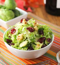 Crunchy Brussels Sprouts Salad-0987 sprout salad, cranberry salad, cranberri twist, crunchi brussel, brussel sprout, brussels sprouts, recip, salads, cranberries