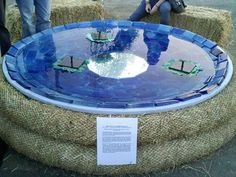 Bioneers: Solar-Powered Water Fountain a Great DIY Project. I've been looking for a solar fountain project. This one makes you think about the possibilities! The blue is very eye catching.