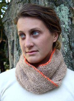 mobius cowl, knitting