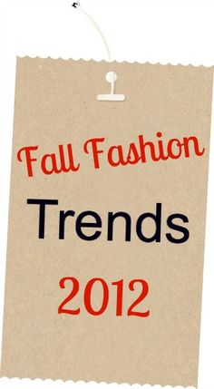Along with the cooler weather comes fall fashion and so today, I'm sharing some fall fashion trends that you'll be seeing in a store near you.