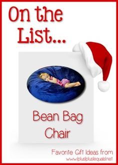 Christmas Gift Ideas ~ Bean Bag Chair  --- @{1plus1plus1} Carisa is sharing her top ten ideas from now until Christmas!