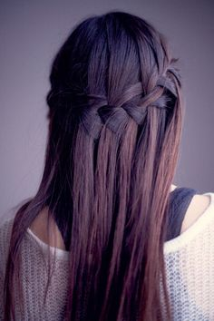 waterfall braid #braid #hair