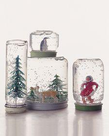baby food jars, gift, christmas crafts, snow globes, winter wonderland, baby foods, holidays, mason jars, kid