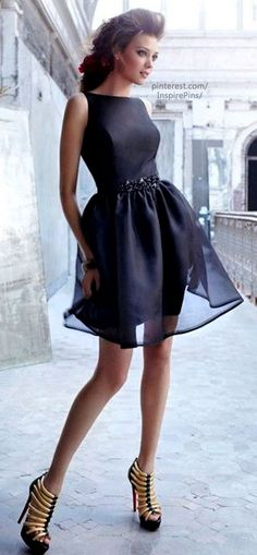 Black Organza Overlay Sheer bridesmaid dress with Wide Straps