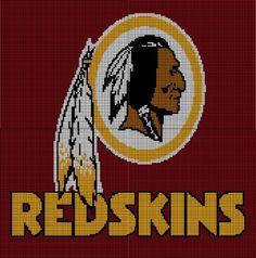 Washington Redskins Crochet Afghan Graph Pattern - CitiUSA