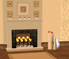 I really like this set: new fireplaces are always needed, there are also some new flowers and decor objects