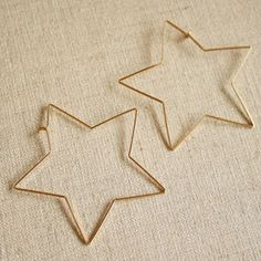 Quiet Lion Creations: By Boe Starbright Earrings using a star cookie cutter