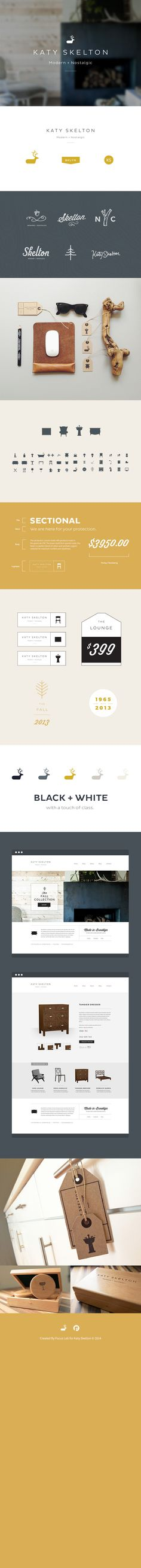 identity / Katy Skelton Branding, Icon Design, Web Design