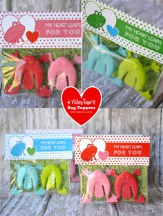 Bird's Party Blog: My Heart Leaps For You: FREE Printable Valentine's Bag Toppers