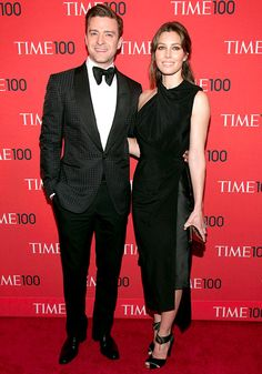 Justin Timberlake and Jessica Biel beamed on the red carpet